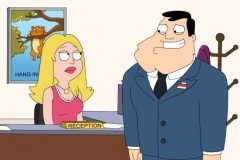 "AMERICAN DAD: Francine gets a job at Stan's office, which cramps his style and his ability to flirt with co-workers in the all-new ""Flirting with Disaster"" episode of AMERICAN DAD airing Sunday, May 15 (7:30-8:00 PM ET/PT) on FOX.  AMERICAN DAD ™ and © 2011 TTCFFC ALL RIGHTS RESERVED."